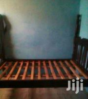 4*4 Wooden Bed And Mattress | Furniture for sale in Central Region, Kampala