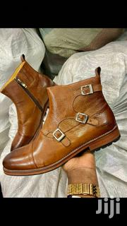 Mens Buckled Leather Brown Boots | Shoes for sale in Central Region, Kampala