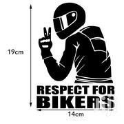 14x19cm Car Sticker Respect For Bikers High Quality Viscosity Polymer | Vehicle Parts & Accessories for sale in Central Region, Kampala