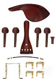 1 Set Rosewood Violin Parts 4/4 Fitting Chinrest Pegs Tailpiece Tuners | Musical Instruments & Gear for sale in Central Region, Kampala