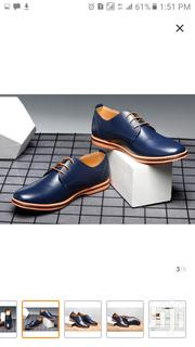 Casual Faux Leather Men Shoe -Blue | Shoes for sale in Central Region, Kampala