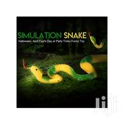 Simulation Fake Rubber Snake Garden Fun Toy Yellow And Green Color | Toys for sale in Central Region, Kampala