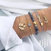 5pc Chain Bracelet Set - Gold, Grey | Jewelry for sale in Central Region, Kampala