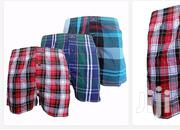Pack of 3 Men'S Checked Boxer   Clothing for sale in Central Region, Kampala