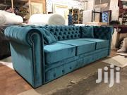 Mat Chesterfield Sofa 3 Sitters   Furniture for sale in Central Region, Kampala