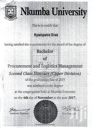 Logistics and transportation officer | Logistics & Transportation CVs for sale in Central Region, Kampala