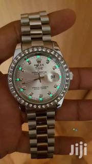 Rolex With Stones And Silver Color Dial Oyster   Mobile Phones for sale in Central Region, Kampala