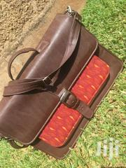 Brown African Print Leather Bag | Clothing for sale in Central Region, Kampala
