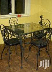 Metalic Glassed Dining Table of 4seater Space | Furniture for sale in Central Region, Kampala