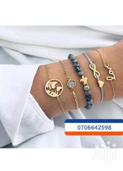 5pcs Bracelet Chain Gold and Grey | Jewelry for sale in Central Region, Kampala