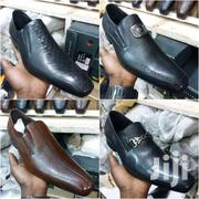 Office  Gentle Leather Shoes In Original Black And Brown | Clothing for sale in Central Region, Kampala