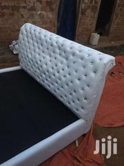 5by6 White Leather Bed | Furniture for sale in Central Region, Kampala