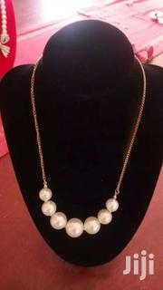 Pearl Pendant Gold Chain Necklace | Watches for sale in Central Region, Kampala