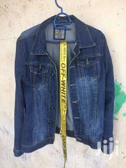 Jean Jacket And Off White Belt | Clothing for sale in Western Region, Kisoro