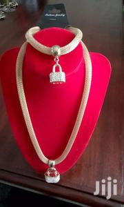 Padlock Gold Mini Pendant Necklace And Bracelet | Watches for sale in Central Region, Kampala