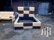 Available New Cream & Coffee Brown Leatherbed | Furniture for sale in Central Region, Kampala
