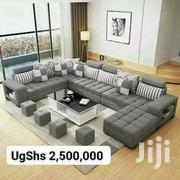 U Sofa, Glass Centre Table And 4 Poufs   Furniture for sale in Central Region, Kampala