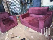 Maroon Sofa Three Seats Available Now | Furniture for sale in Central Region, Kampala