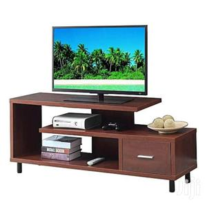 Wooden TV Stand Coffee Brown