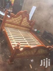 6by6 Pinned Leather Bed   Furniture for sale in Central Region, Kampala
