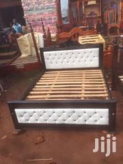 White Lathered 5by6 Bed | Furniture for sale in Central Region, Kampala