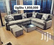 Classy L Sofa, Glass Centre Table and 2 Poufs | Furniture for sale in Central Region, Kampala