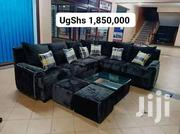 Modern L Sofa, Glass Centre Table and 2 Poufs | Furniture for sale in Central Region, Kampala