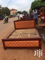 5by6 Brown Lethered Bed | Furniture for sale in Western Region, Kisoro