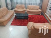 Seven Seater Leather Sofa Set With Center Coffee Table | Furniture for sale in Central Region, Kampala