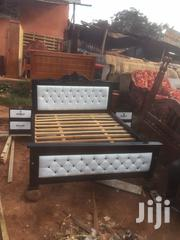 5by6 White Lathered Bed | Furniture for sale in Central Region, Kampala