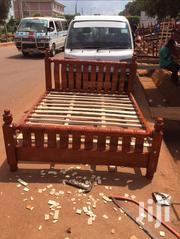 Germany Bed Design 5by6 Mahogany Color | Furniture for sale in Central Region, Kampala