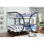 4*6 Steel Double Bunker Bed - Black,White   Home Accessories for sale in Central Region, Kampala