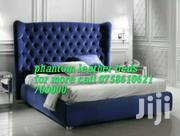 Hyper Leather Beds 5by6 Free Delivery N Bed Side Drawer | Furniture for sale in Central Region, Kampala