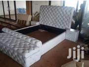 Leather Bed White | Furniture for sale in Central Region, Kampala