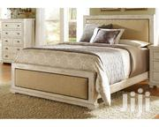 White Bed, Puffed Head Board And Back With Two Side Drawers.   Furniture for sale in Central Region, Kampala