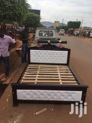 White Lathered 5/6 Bed | Furniture for sale in Central Region, Kampala