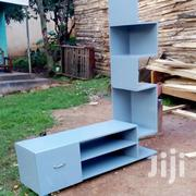 Sky Blue Long Tv Stand With Shelves in Ine Side | Furniture for sale in Central Region, Kampala