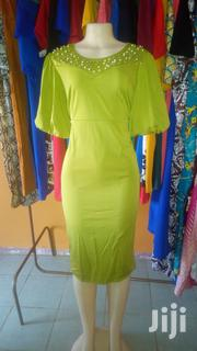 Green Party Dress With Pearls Embelishment. | Clothing for sale in Central Region, Kampala