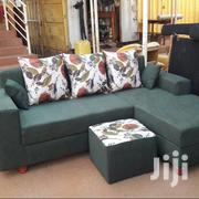 Green L Chair With a Pouf | Furniture for sale in Central Region, Kampala