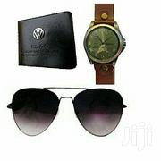 A Pack of 3 Men's Wallet Sunglasses and Watch | Watches for sale in Central Region, Kampala