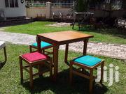 Foldable Wooden Table With Four Cushioned Seats | Furniture for sale in Central Region, Kampala