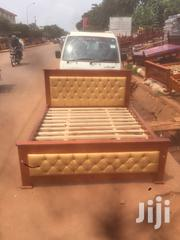 Brown Lathered 5by6 Bed | Furniture for sale in Central Region, Kampala