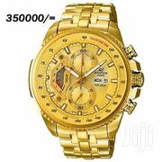 Gold and Stainless Steel Casio Edifice Water Proof Watch | Watches for sale in Central Region, Kampala