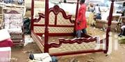 Simple Bed With Leather | Furniture for sale in Central Region, Kampala