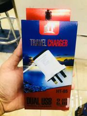 HT-05  Dual USB  2 USB Travel Charger 2.1A | Clothing Accessories for sale in Central Region, Kampala