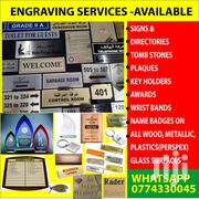 Engraving Services | Computer & IT Services for sale in Central Region, Kampala