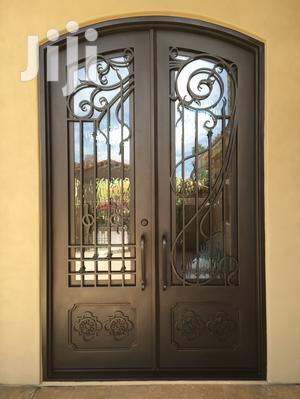 S140819 Wrought Iron Double Doors A