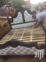 King Sized Pinned White Lathered | Furniture for sale in Central Region, Kampala