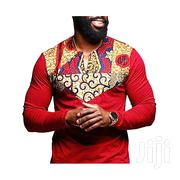 Nkutu African Print Long Sleeve Shirt | Clothing for sale in Central Region, Kampala