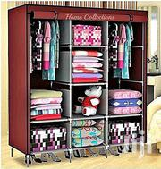 3 Column Cloth & Wooden Frame Portable Wardrobe - Maroon | Home Accessories for sale in Central Region, Kampala